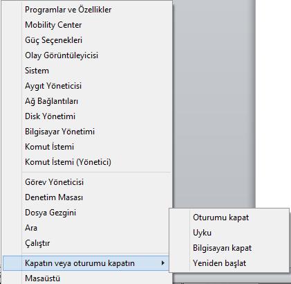 w8-baslat-menusu