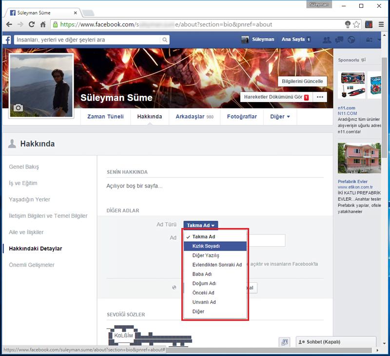 FacebookKizlikSoyadiEkle.4