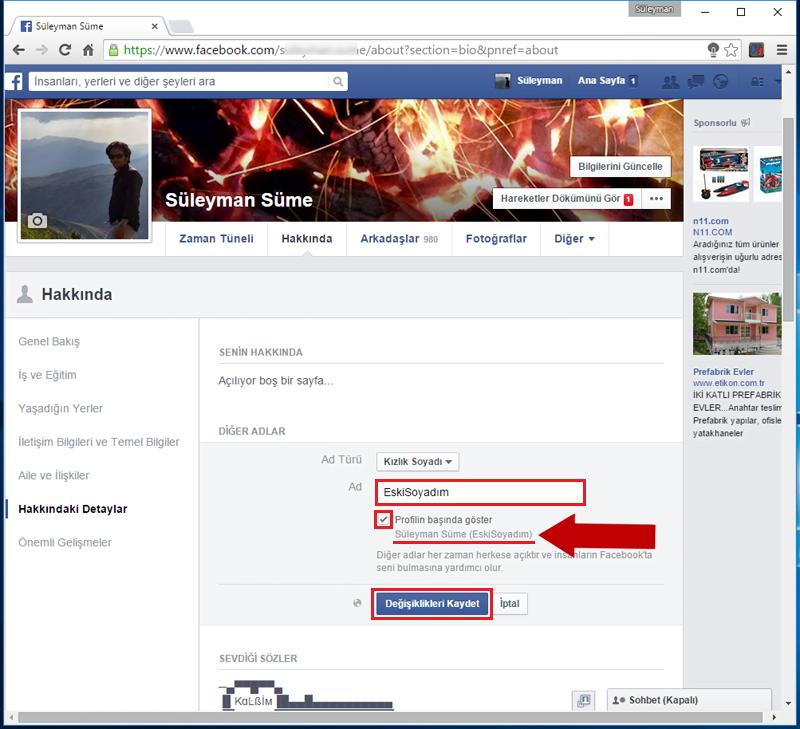 FacebookKizlikSoyadiEkle.5