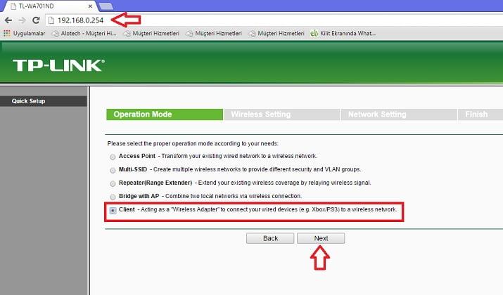 tp link client 1