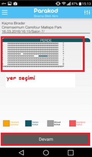 sinema bileti satın alma uygulaması 10