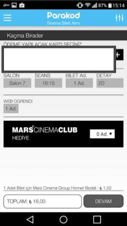 sinema bileti satın alma uygulaması 12