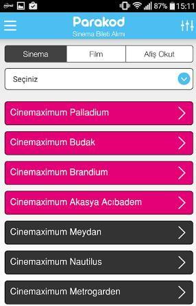 sinema bileti satın alma uygulaması 6