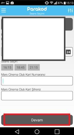 sinema bileti satın alma uygulaması 8