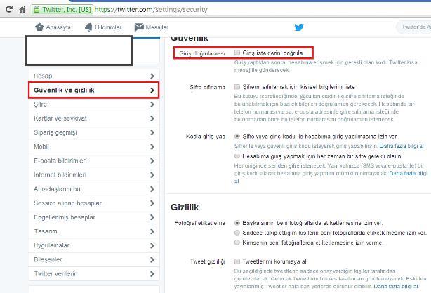 twitter kullanıcı hesabı ayarları 3