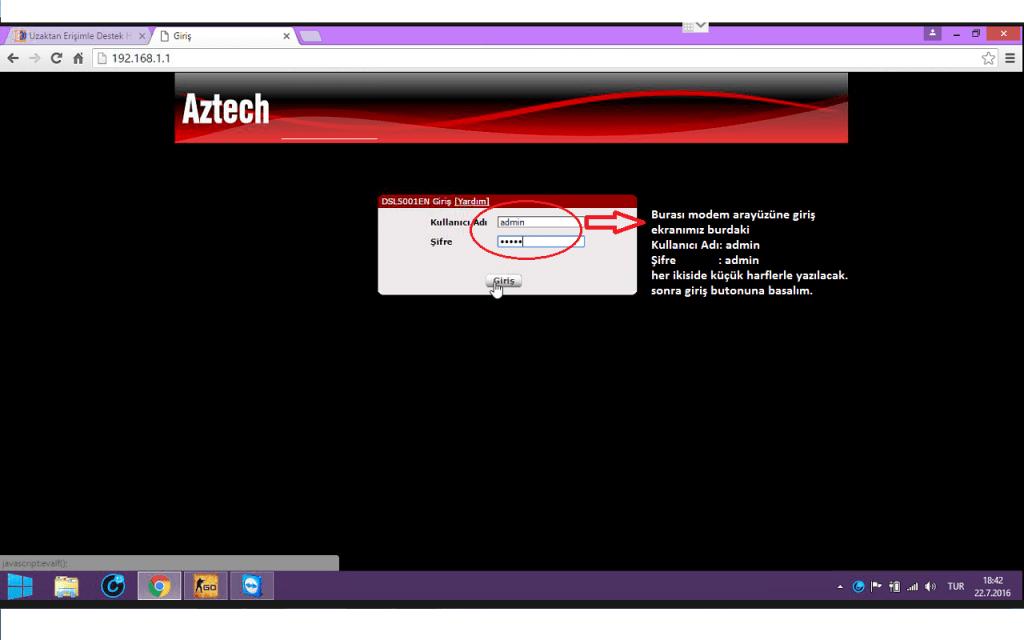 002 arayüz giriş ekranı