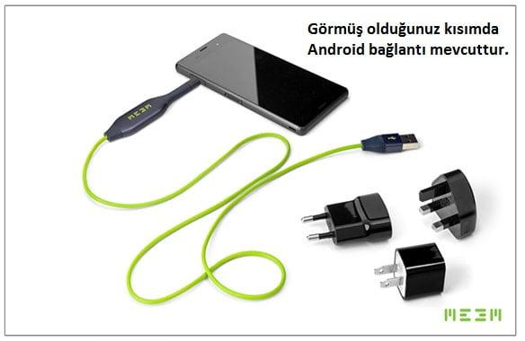 android bağlantı