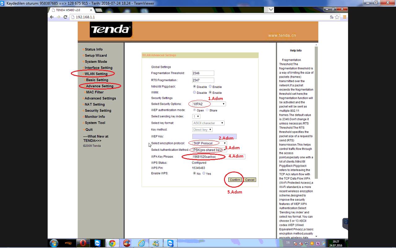 010kablosuz şifre oluşturma