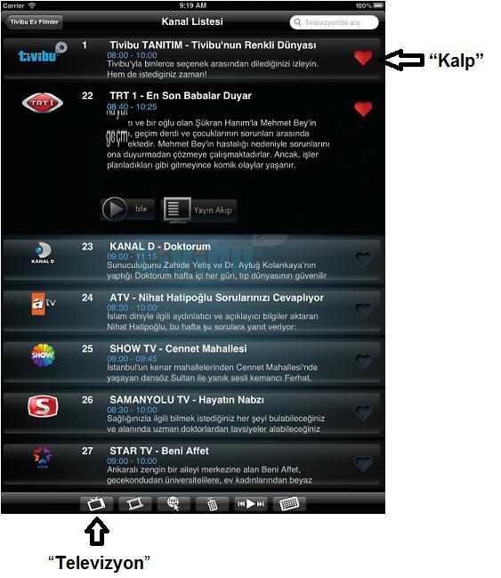 Tivibu Ev Tablet Uygulaması resim 2