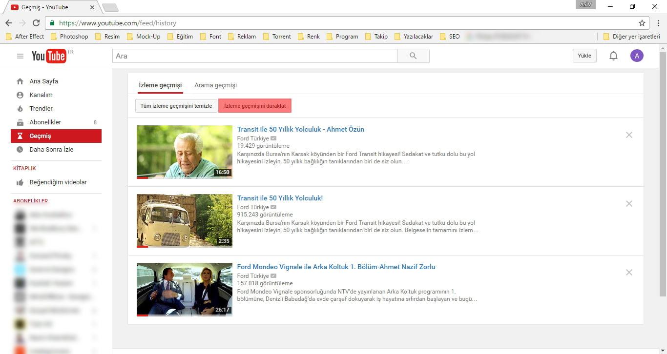 YouTube İzleme Geçmişi Nasıl Kapatılır?