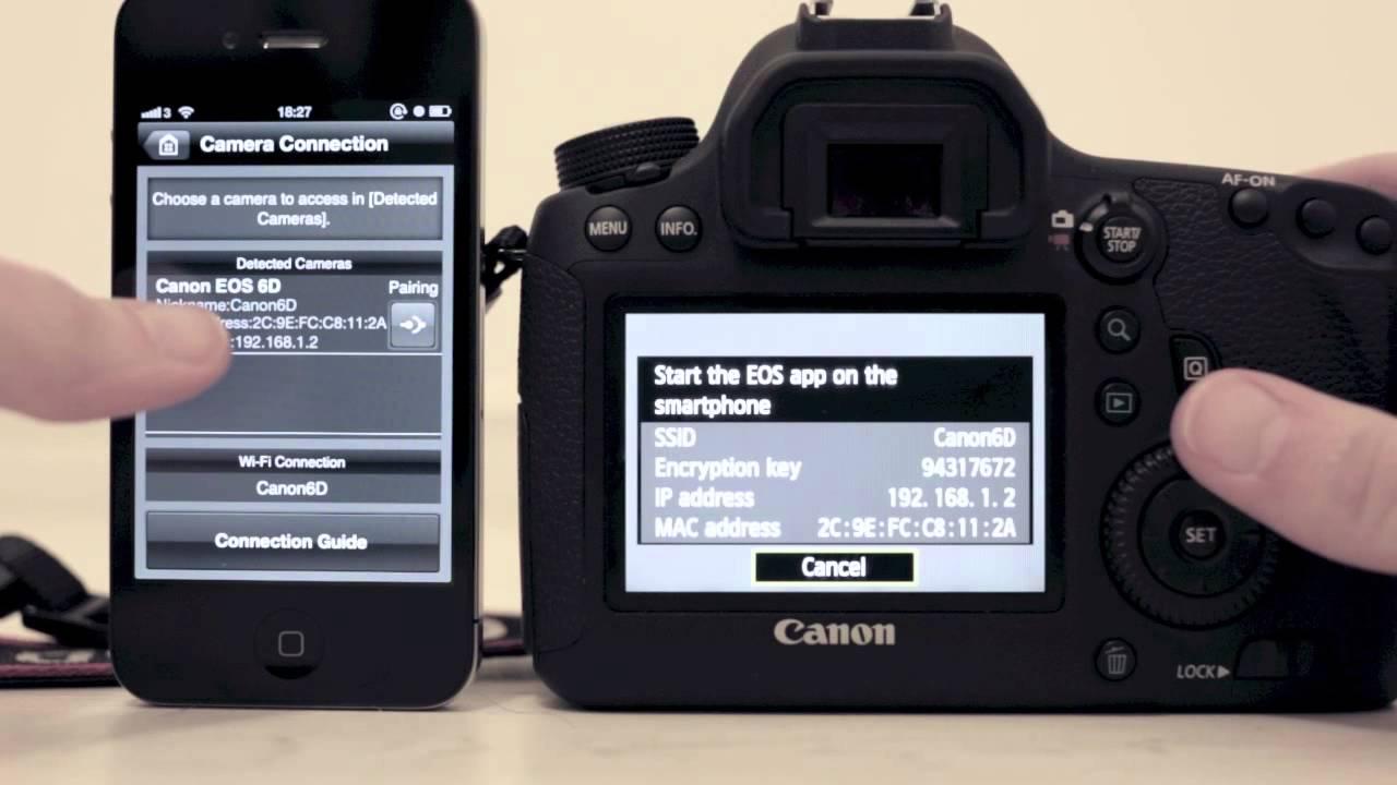 canon 6d wifi инструкция к телефону