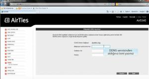Airties Air 5340 DDNS, DDNS Ayarları, 5340 DDNS Ayarları, Dinamik DNS, Air 5340