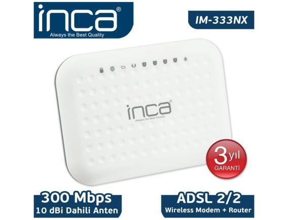 Inca IM-333NX 300Mbps ADSL Modem Kurulumu (Resimli Anlatım)
