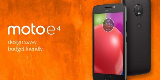 Motorola'nın Giriş Seviyesi Yeni Akıllı Telefonu 'Moto E4'