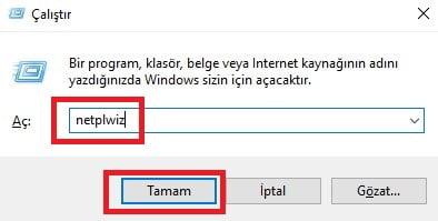 Windows 10'da 'Kısıtlı' Kullanıcıya 'Yönetici' Yetkisi Verme (Resimli Anlatım)