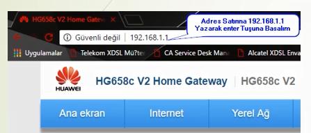Huawei HG658C V2 Modem Kurulumu ve Kablosuz Ayarlar (Resimli Anlatım)