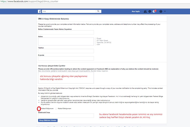 Facebook'ta, Kapatılan Sayfa ya da Grup için Geri Bildirim Yapma