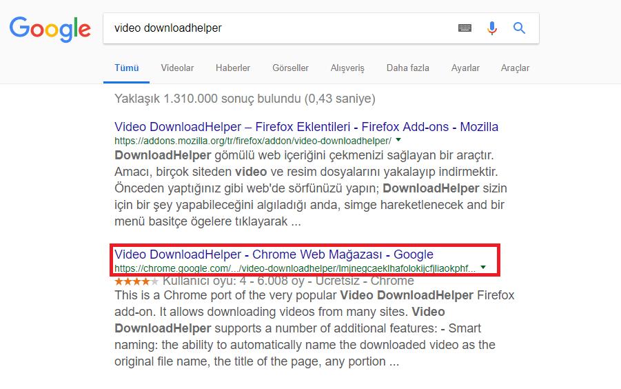 Google Chrome'da Video İndirme (Resimli Anlatım)