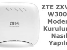 ZTE W300S Kablosuz Ağ Ayarları (Resimli Anlatım)
