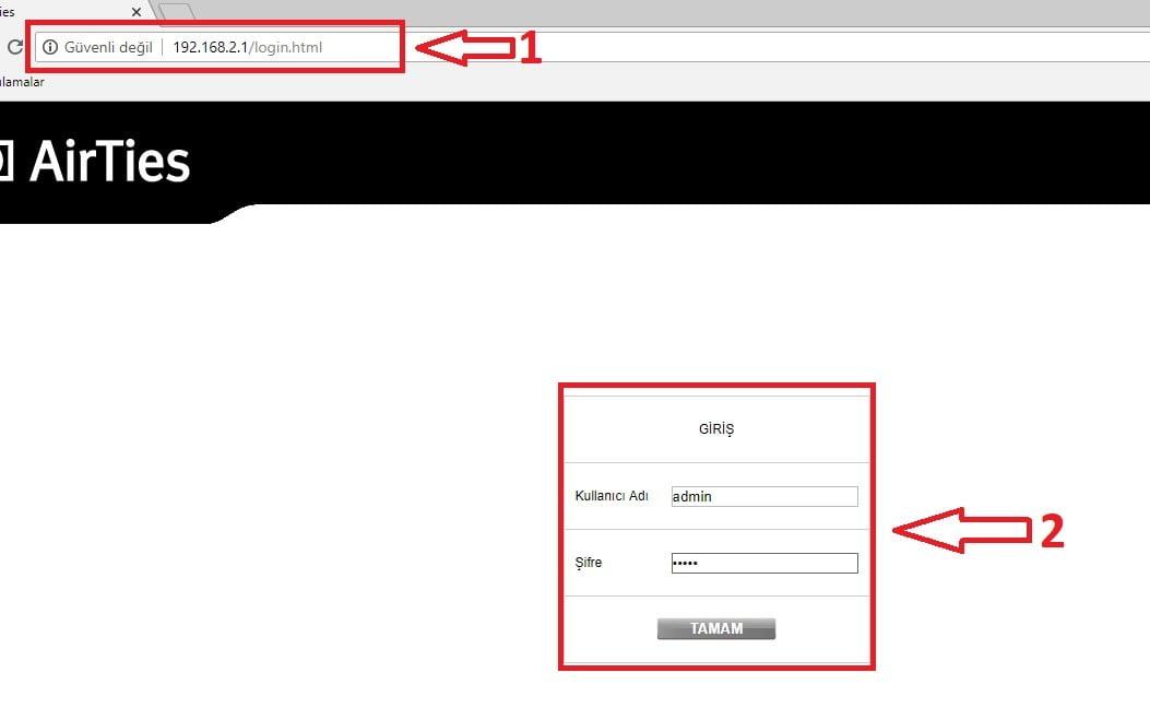 AirTies Modemlerde IP Değiştirme! (Resimli Anlatım)