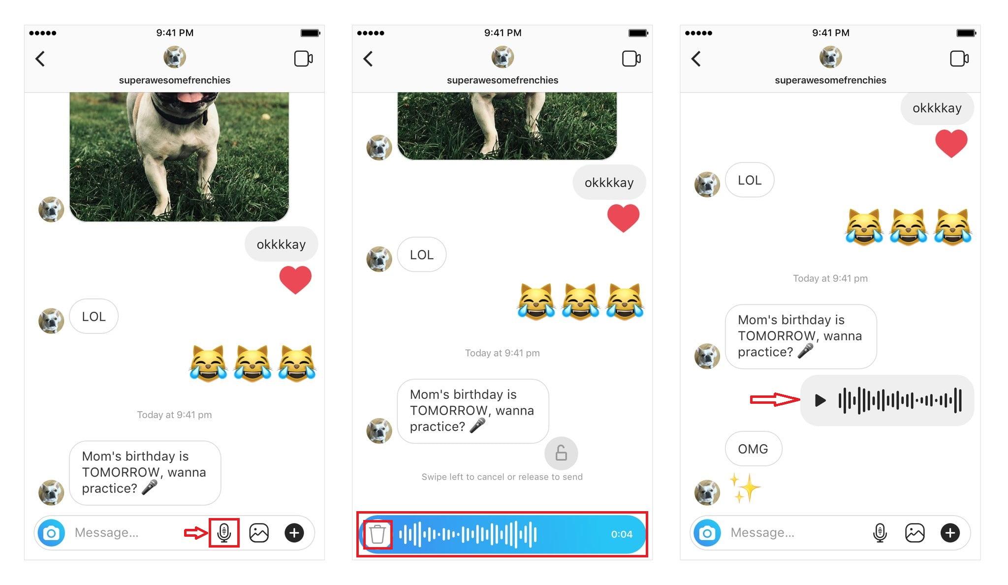 Instagram'da Nasıl Sesli Mesaj Gönderilir?