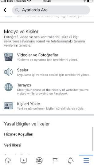 facebook otomatik oynatmayı kapatma