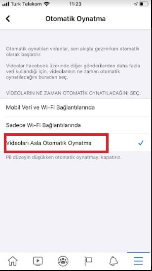 Facebook Otomatik Video Oynatma Nasıl Kapatılır