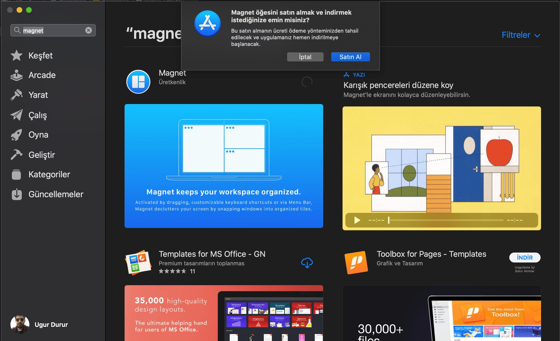 Mac Os X işletim sisteminde Magnet Uygulaması ve Kullanımı